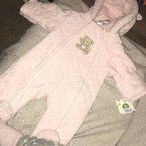 NWT little me light pink baby pram coat size 3-6 M